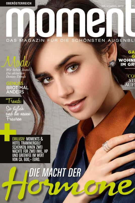 Lily Collins - moments magazine austria, april 2019