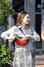 Lily Collins O&A in West Hollywood