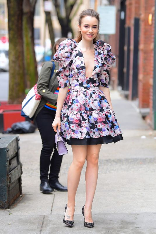 Lily Collins Out in New York