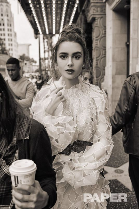 Lily Collins - Paper Magazine, April 2019
