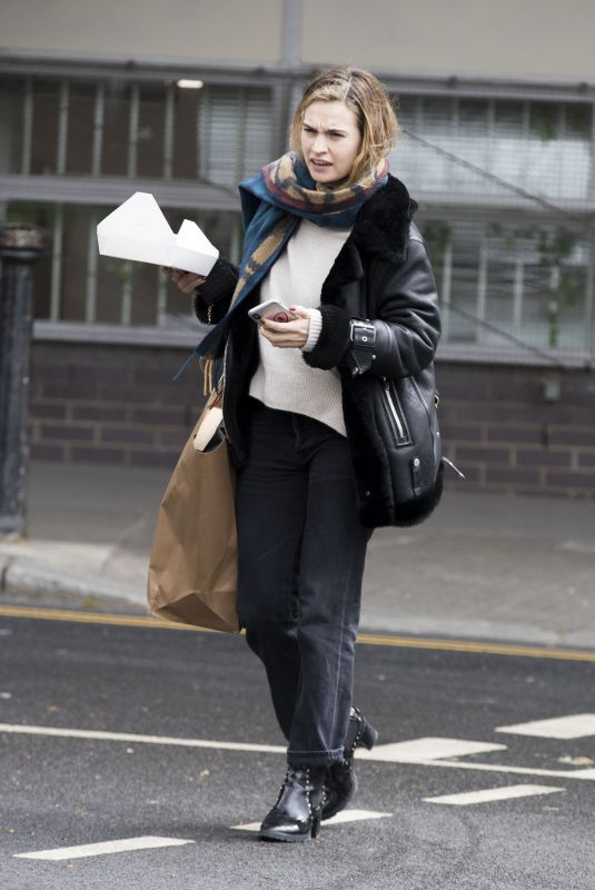 Lily James At a studio in West London
