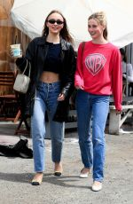 Lily-Rose Depp Showing her tummy while shopping in LA