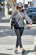 Lisa Rinna Leaving yoga class in Studio City