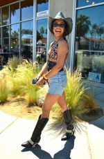 Liza Koshy Leaves the Lucky Brand Party in Palm Springs