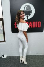 Lizzie Cundy Dazzles in white at Talk Radio show in London