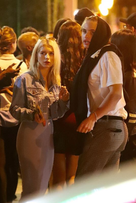 Lottie Moss Gets cozy with Daniel Mickelson outside of Delilah nightclub in West Hollywood