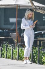 Lottie Moss Waited for a cab after going to visit her agent at Storm Management in Los Angeles