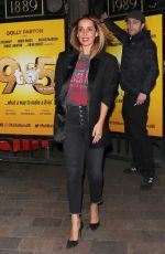 Louise Redknapp Leaving 9 to 5 The Musical at the Savoy Theatre