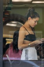 Madison Beer At a nail salon before some shopping in West Hollywood