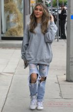 Madison Beer Leaving Alen M Femme Coiffure hair salon in West Hollywood