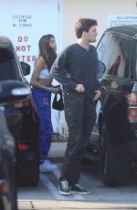 Madison beer Was spotted leaving lunch at Le Petit on Sunset with a mystery man In Hollywood