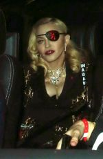 Madonna Leaves MTV Studios after an Appearance on MTV Live, London