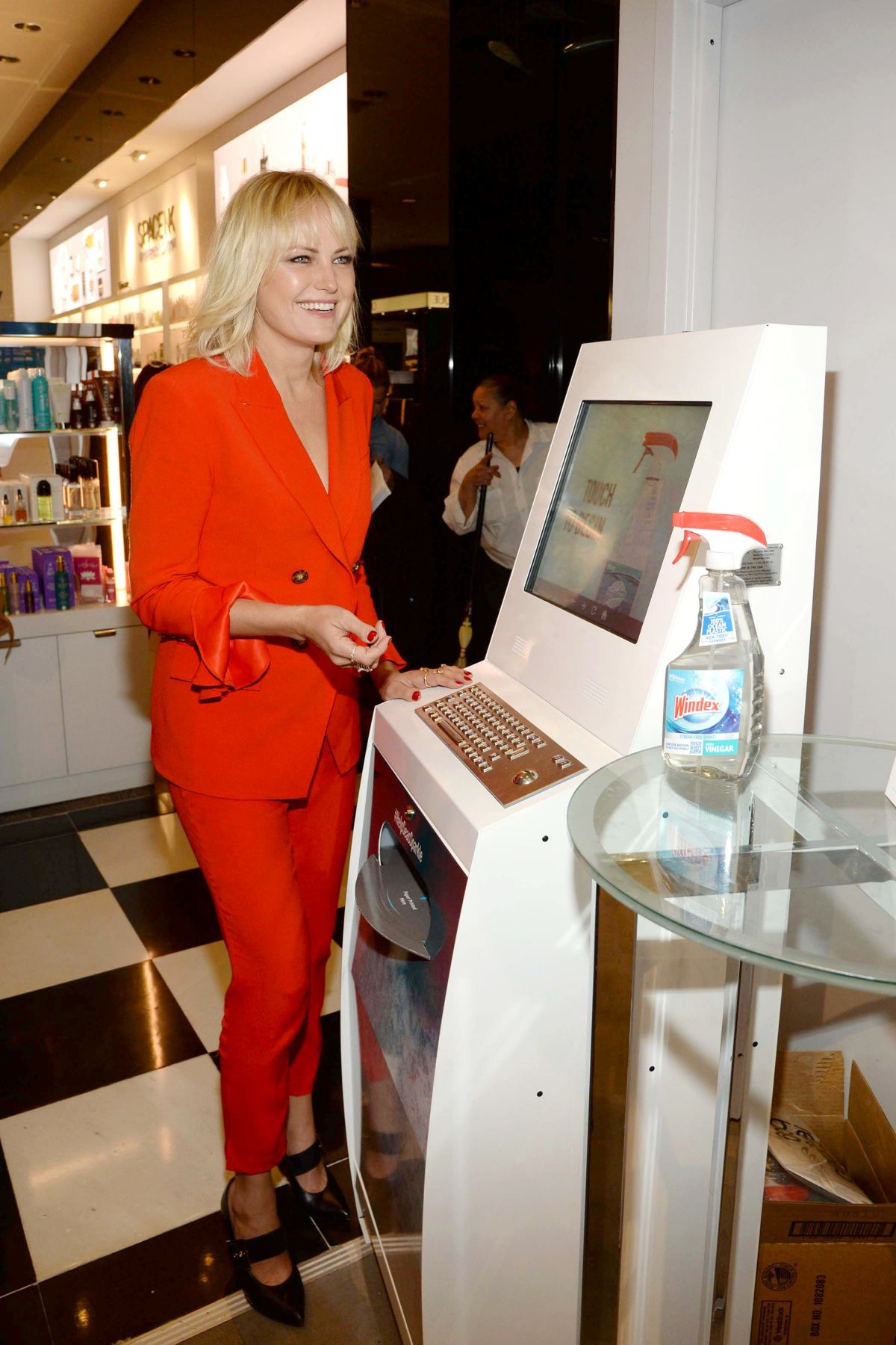 Malin Akerman At Unveils New Windex at Bloomingdale's in New