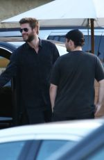 Miley Cyrus & Liam Hemsworth Seen at the Soho House in Malibu