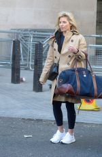 Mollie King Seen Leaving BBC Radio One, London