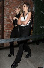 Nicola Peltz and friends attend the Twenty app launch party in Hollywood