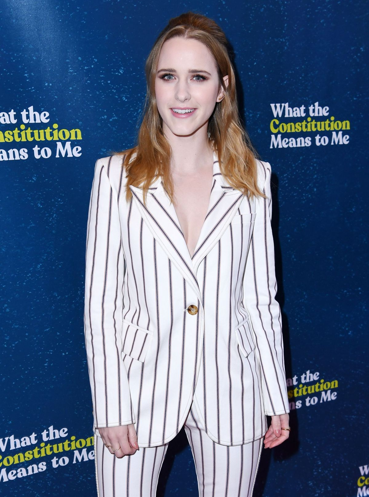 rachel brosnahan at what the constitution means to me opening night new york celebzz. Black Bedroom Furniture Sets. Home Design Ideas