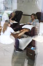 Rachel McCord Gets ready for the weekend with a manicure in Beverly Hills