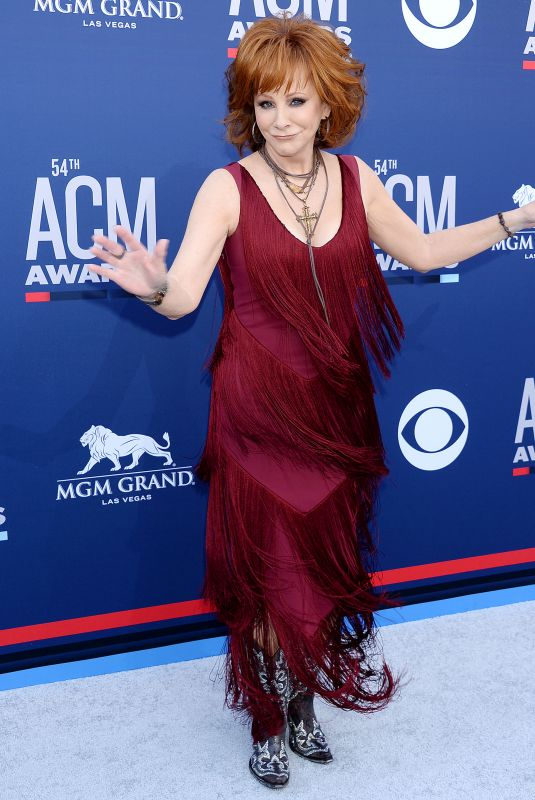 Reba McEntire At 54th Academy of Country Music Awards in Las Vegas