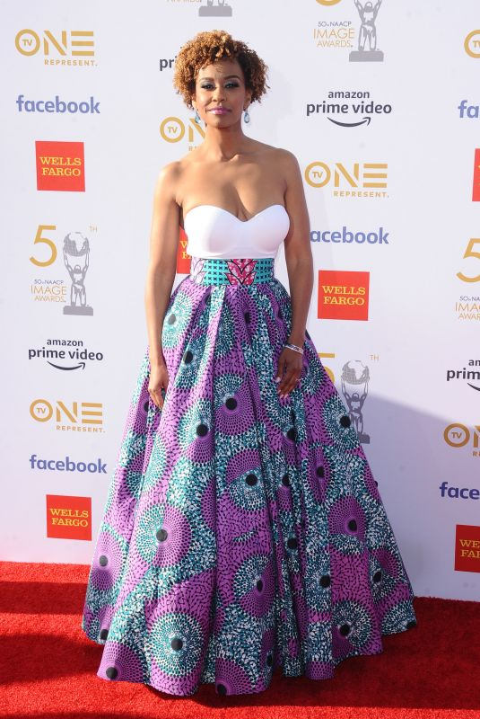 Ryan Michelle Bathe At 50th Annual NAACP Image Awards, Dolby Theatre, Los Angeles