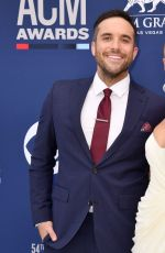 Sabina Gadecki and Tyler Rich attend the 54th Academy Of Country Music Awards in Las Vegas