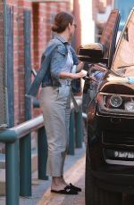Sandra Bullock Slips out of the back exit following a trip to her dentist office in Beverly Hills