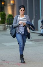 Sarah Silverman Wears stripes on a stroll in NYC