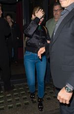 Scarlett Johansson Out for Dinner in London