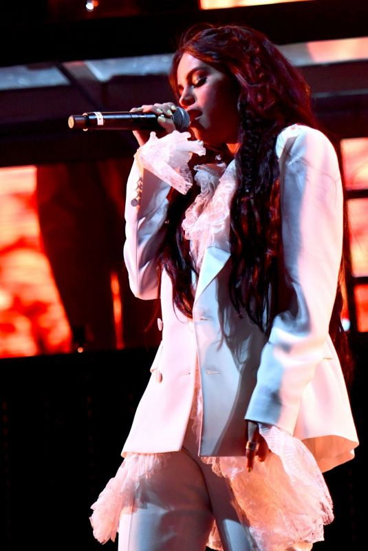 Selena Gomez Performs onstage on the Outdoor Stage at Coachella in Indio