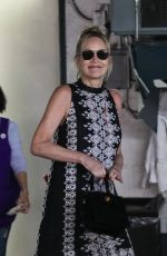Sharon Stone Gets pampered at a salon in Beverly Hills