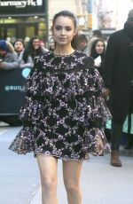 Sofia Carson Leaves the AOL Build Series in NYC