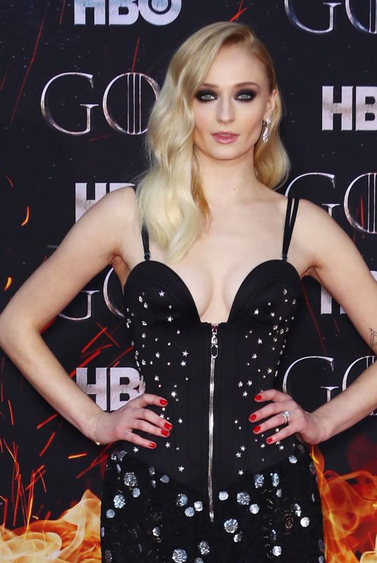 Sophie Turner At Game of Thrones Season 8 Premiere in NY