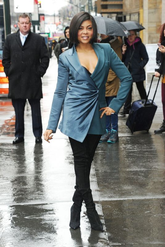 Taraji P. Henson Arriving at the Variety Power of Women luncheon in NYC