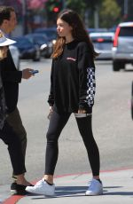 Thylane Blondeau and Milane Meritte enjoy a lunch outing in Beverly Hills