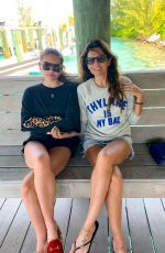 Thylane Blondeau In a bikini celebrating her 18th birthday with family in The Bahamas