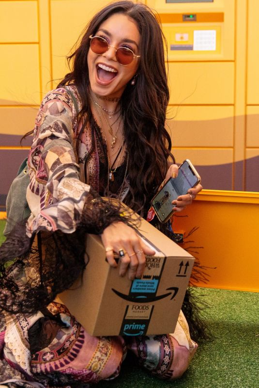 Vanessa Hudgens At the Amazon Lockers at Coachella Valley Music and Arts Festival in Indio