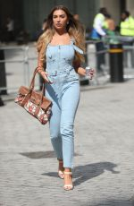 Zara McDermott Stuns in dungarees while leaving BBC Radio 4 studios