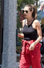 Alessandra Ambrosio and her sister stop at a local bakery in LA