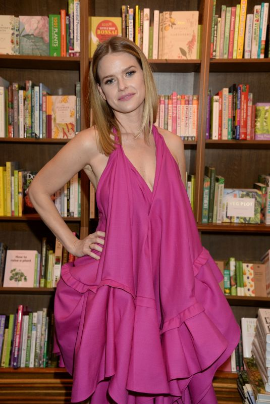 "Alice Eve At Launch of new book ""Lomita For Ever"" by Trevor Eve at Hatchards in London"