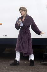 Alice Eve On set for the new ITV series
