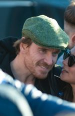 Alicia Vikander & Michael Fassbender Look loved up as they visit Michael