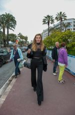 Alina Baikova Spotted on the Croisette in Cannes