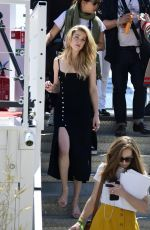 Amber Heard On set of a photoshoot during the Cannes film festival