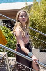 Amber Heard Stepping out for lunch at La Plage du Martinez during 72nd annual Cannes Film Festival in Cannes