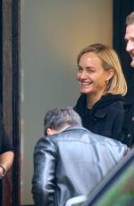 Amber Valletta Having fun with designer Anthony Vaccarello in Soho
