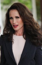 Andie MacDowell At the Martinez hotel during the 72nd annual Cannes Film Festival in Cannes