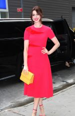 Anne Hathaway Outside Good Morning America In New York