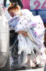 Ariel Winter Picking up her dry cleaning in Toluca Lake