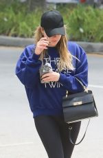 Ashley Benson Leaving a gym in LA
