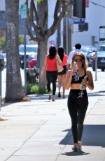 Ashley Tisdale In active wear after going to the gym, Studio City